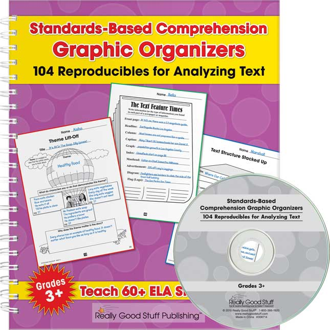 Standards-Based Comprehension Graphic Organizers Book and CD