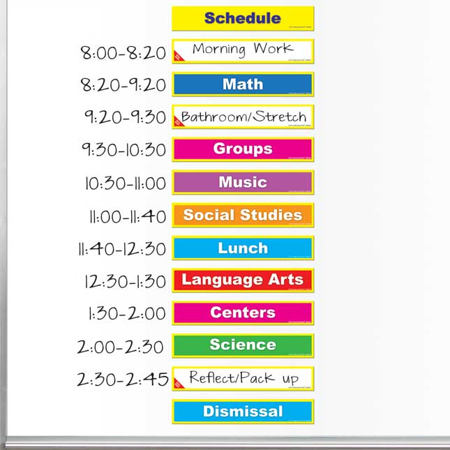 Class Schedule And Management Magnets Set