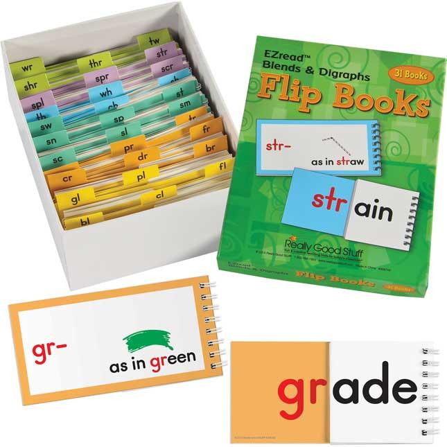 EZread™ Blends And Digraphs Flip Books