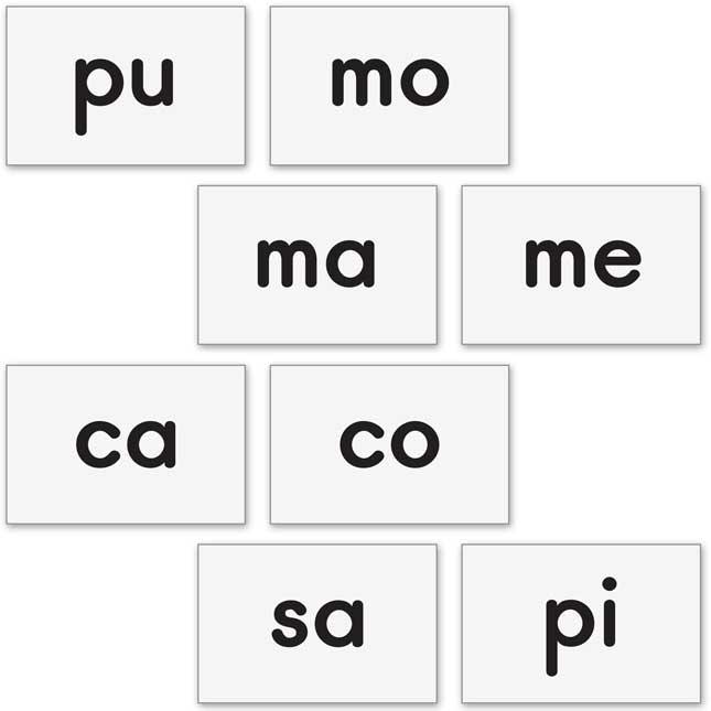 Magnetic Syllable Tile Kit - Spanish