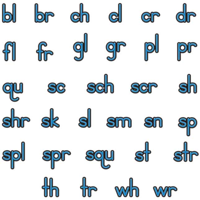 EZread Soft Touch™ Magnetic Beginning Blends And Digraphs