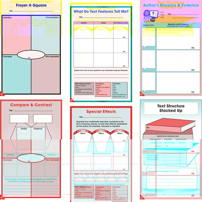 Dry Erase Comprehension Graphic Organizer Mats - Intermediate - Set Of 36