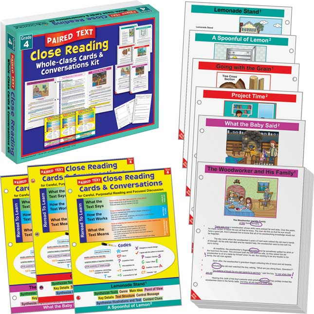 No Prep Paired Text Close Reading Guided Passages - Grade 4