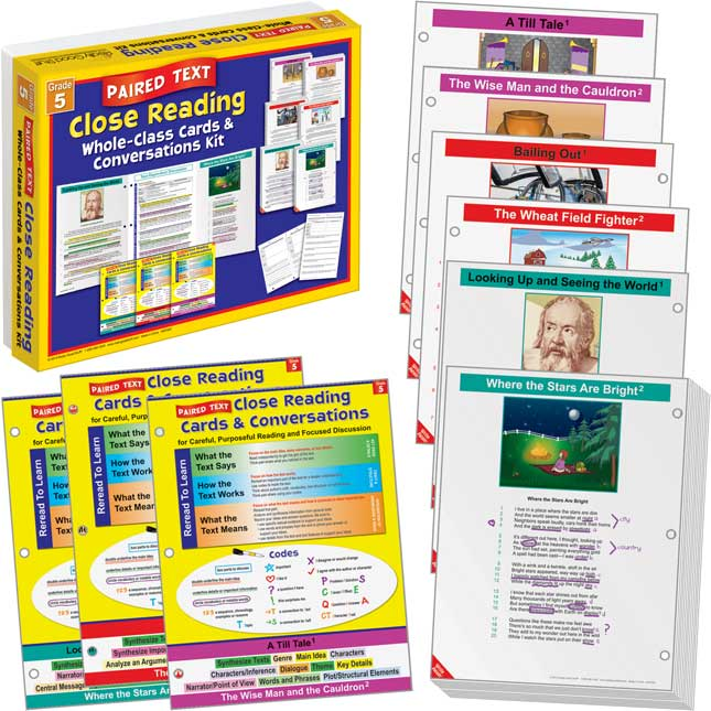 No Prep Close Reading Single and Paired Text Classroom Kit - Grade 5