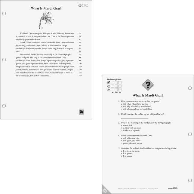 Fluency For Comprehension Holiday Passages Kit - Grade 3