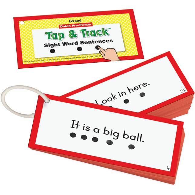 EZRead Dolch Pre-Primer Tap and Track™ Sight Word Sentences