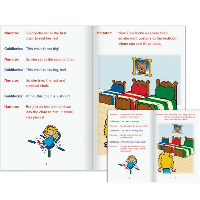 Really Good Readers' Theater - Goldilocks And The Three Bears Student And Big Book Set