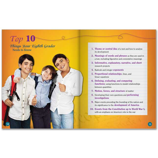 Eighth Grade Parent Guide For Your Child's Success Book