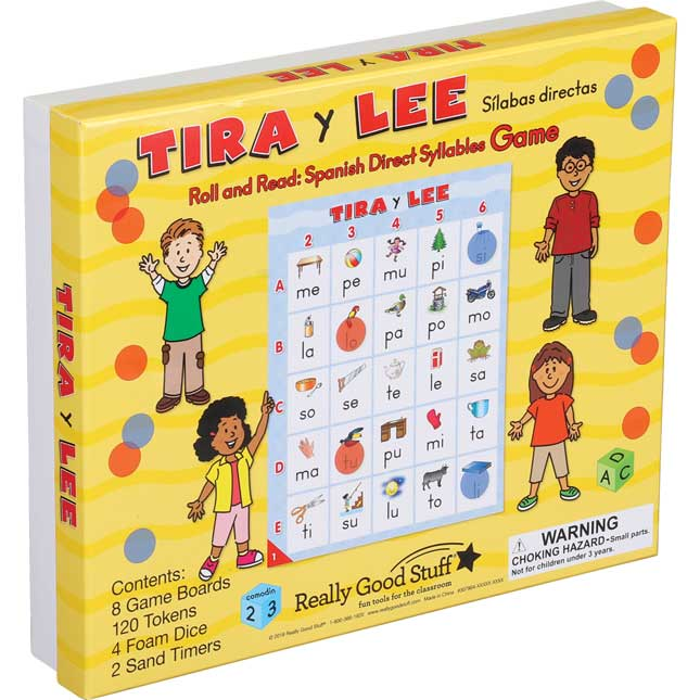 Tira y lee: SÍlabas directas (Roll And Read: Spanish Direct Syllables)