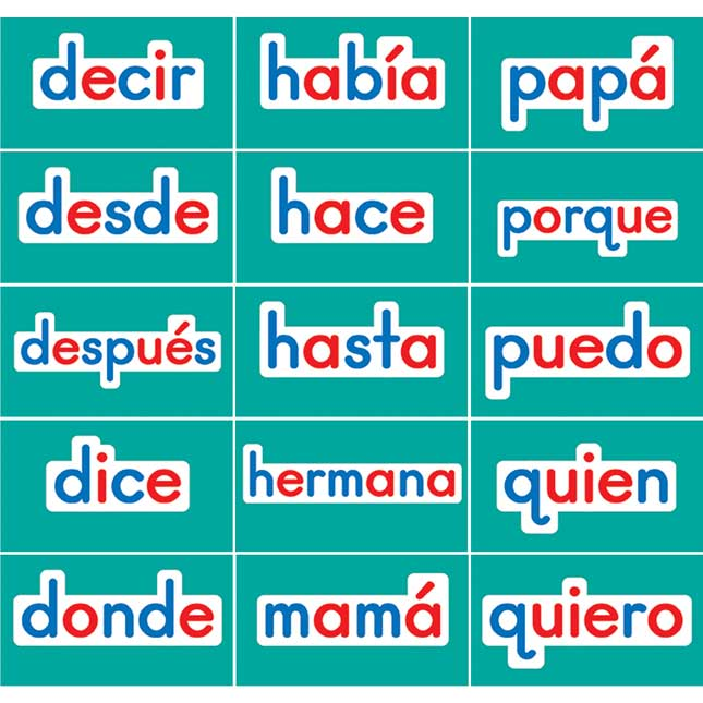 Spanish Magnetic High-Frequency Words Set 1