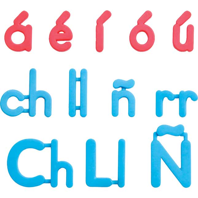 EZread™ Spanish Color-Coded Plastic Magnetic Letters