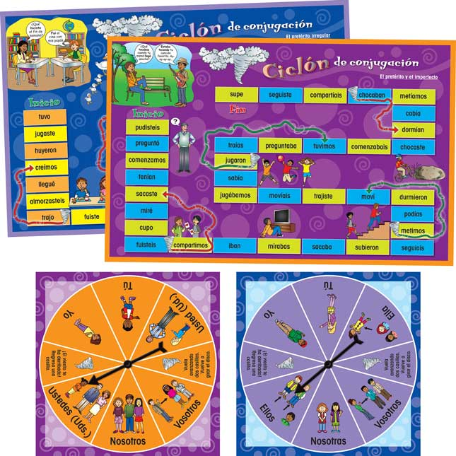 CiclÓn de conjugaciÓn (Spanish Conjugation Game Boards)