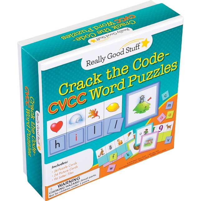 Crack The Code CVCC Word Puzzles