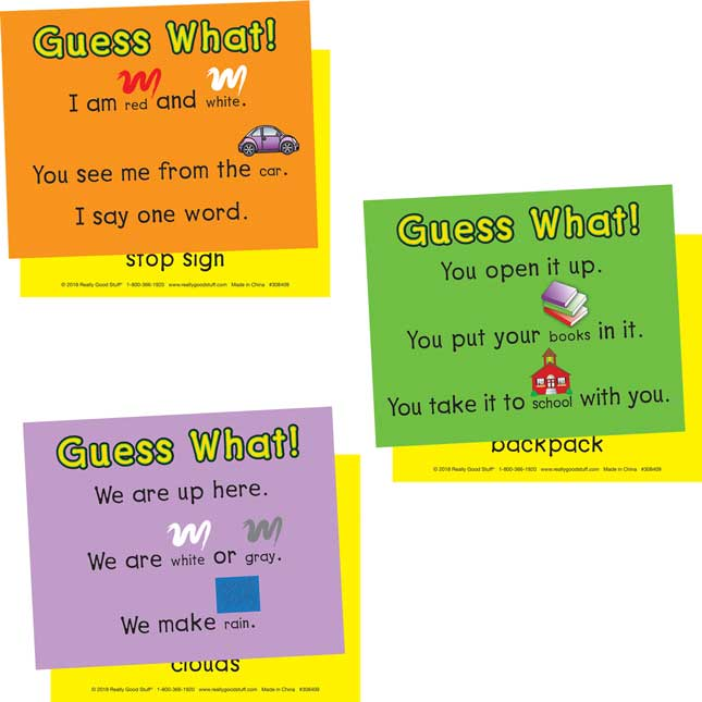 Guess What! Sight Word Riddle Cards