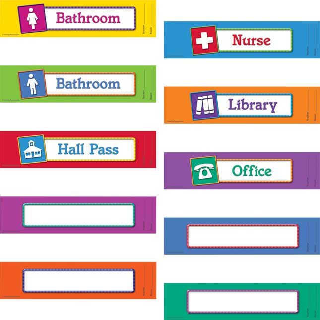 Magnetic Hall Passes - Set Of 10