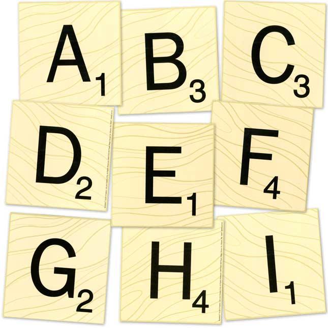 Scrabble™ Letters Deco Letters