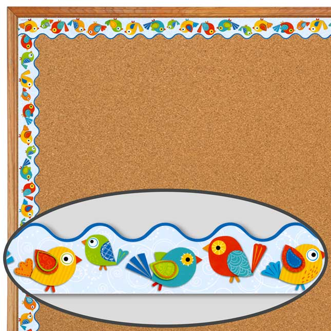 Boho Birds Two-Sided Scalloped Trimmer And Accents