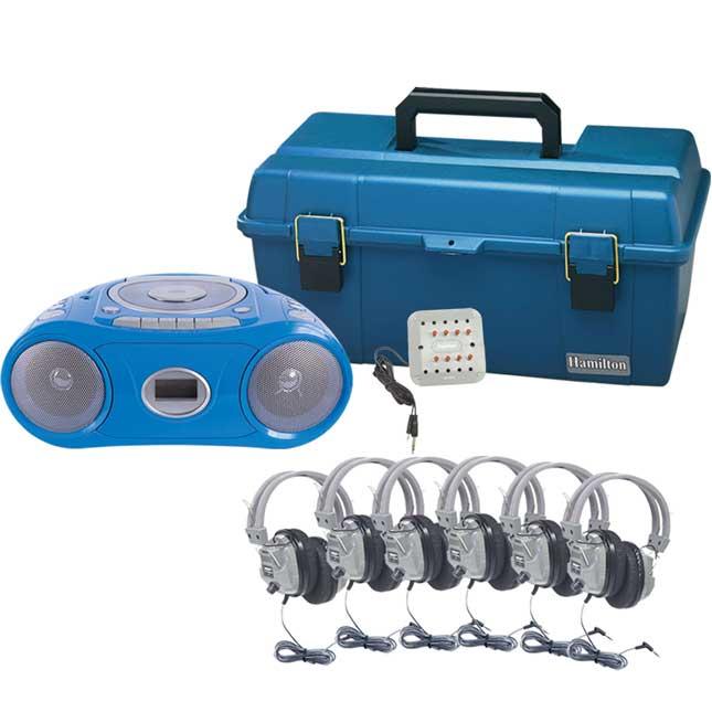 6-Person Val-U-Pak Bluetooth® Boombox Listening Center