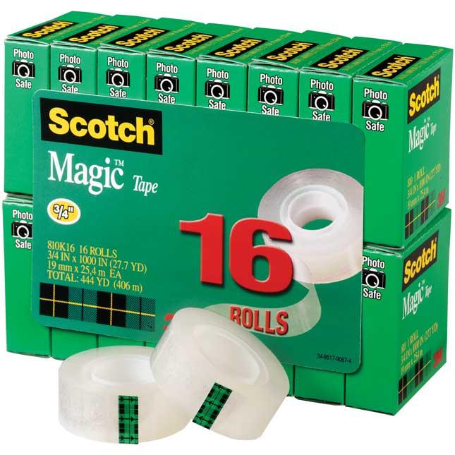 """Scotch® Magic™ Tape ¾"""" By 1,000"""" - 16 Pack"""
