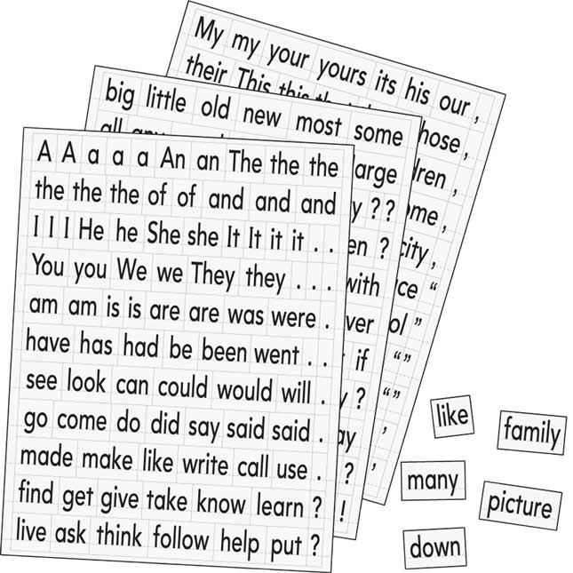 Magnetic Sight Words