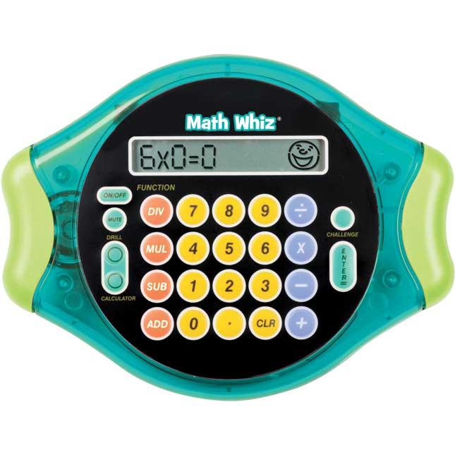 Math Whiz Electronic Flash Card Game