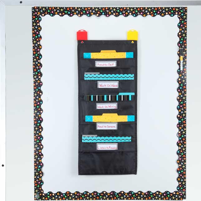 Black 'N' Bold File Folder Pocket Chart And Folders