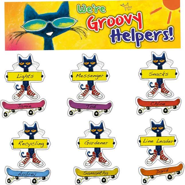 Pete The Cat® Groovy Classroom Jobs Mini Bulletin Board Set