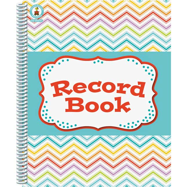 Chevron Multi-Color Record Book