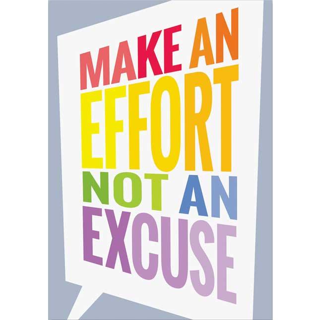 Inspire U Posters - Make an Effort...