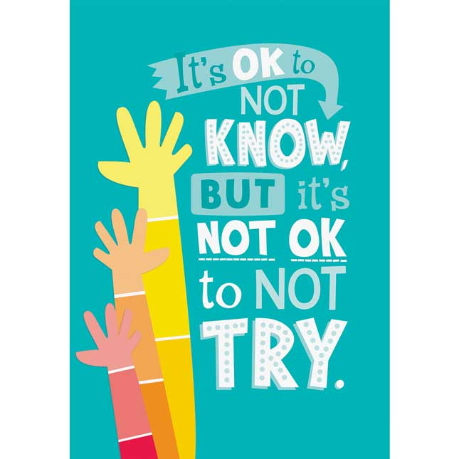 Inspire U Posters - ItA s OK Not To Know...