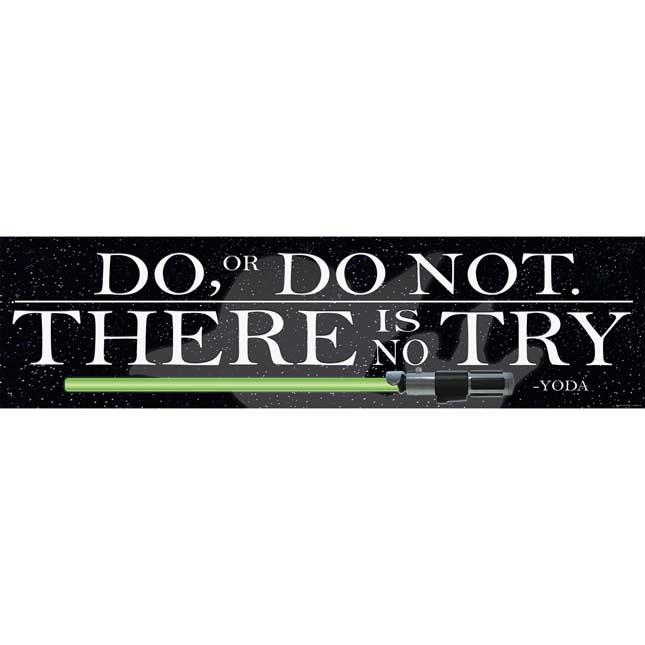 Star Wars™ Yoda Quote Horizontal Banner