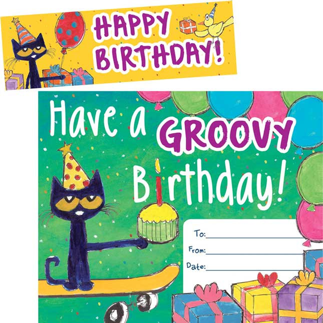 Pete The Cat Groovy Birthday Bookmark Awards Artwork Amount