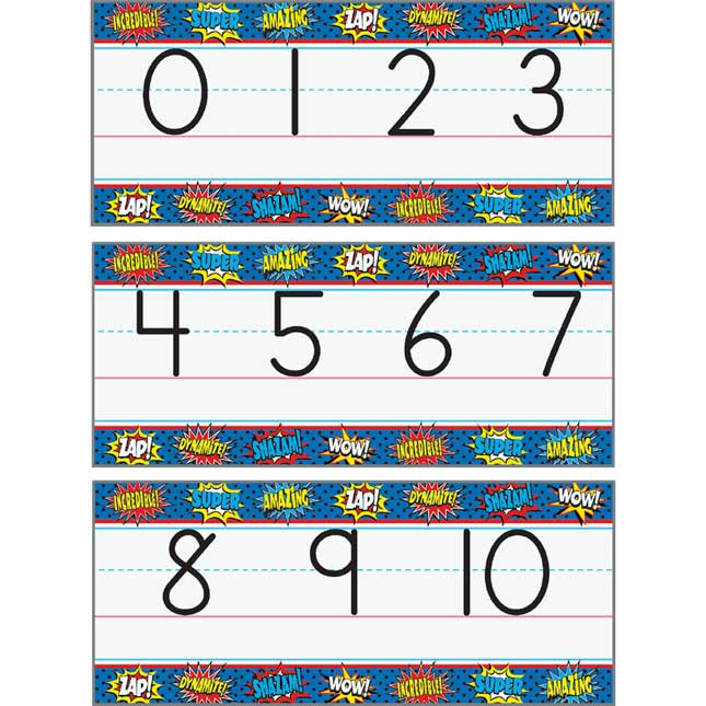 Superhero Alphabet Line Bulletin Board Set