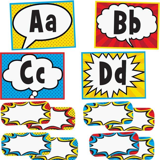 Superhero Alphabet Word Wall Bulletin Board Set