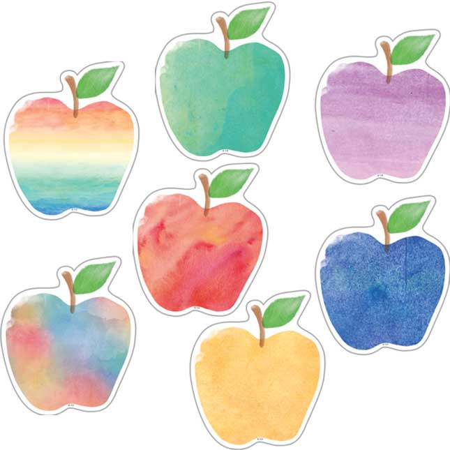 """Watercolor Apples 6"""" Accents"""