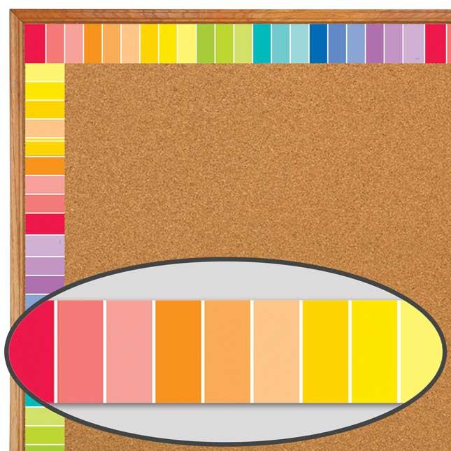 Painted Palette Rainbow Paint Chip Border Trim