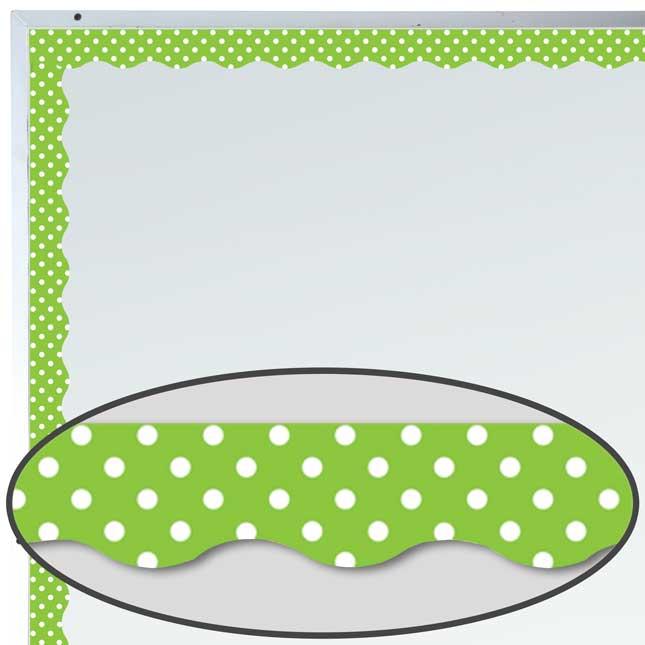 Lime Polka Dots Magnetic Border Trim