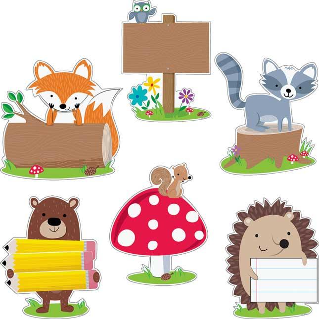 "Woodland Friends 10"" Designer Cutouts"