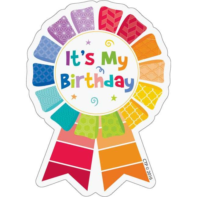 Painted Palette Happy Birthday Sticker Badges