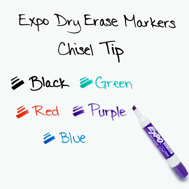 Expo Low Odor Chisel Markers 36 ct. - Assorted