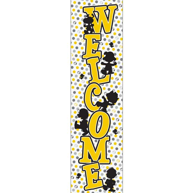 Peanuts® Touch Of Class Vertical Welcome Banner