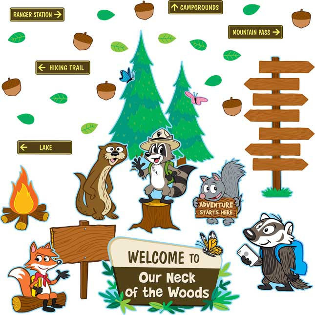 Ranger Rick Welcome To Our Neck Of The Woods Bulletin Board Kit