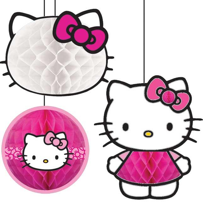 Hello Kitty Honeycomb Decorations