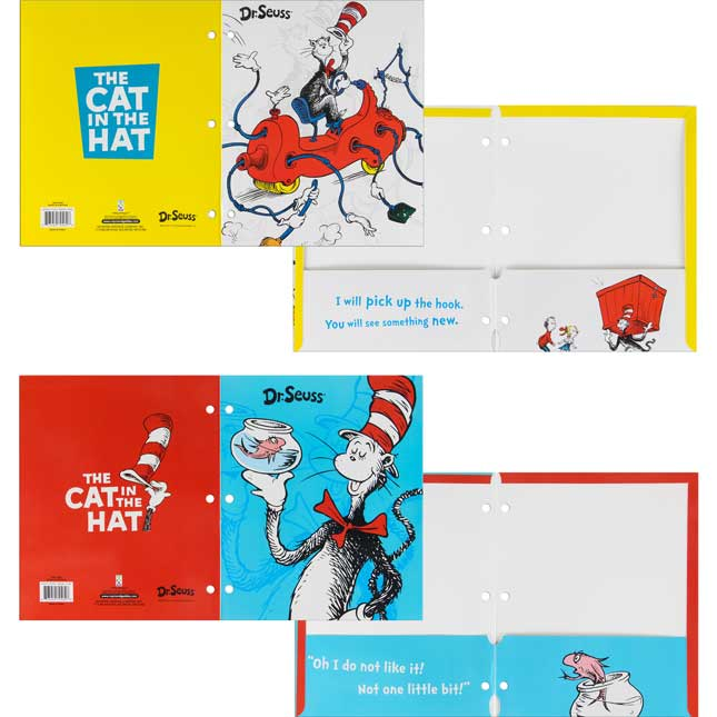 Dr. Seuss Cat In The Hat 2-Pocket Folders
