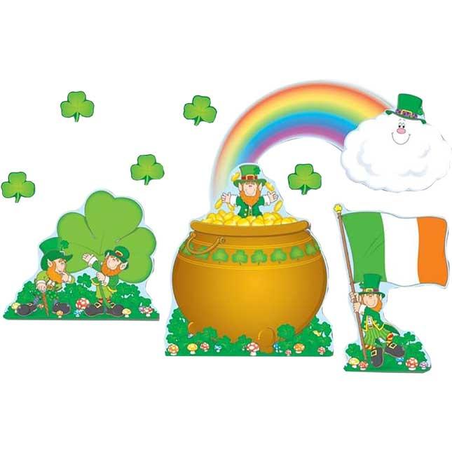 St. Patrick's Day Shamrocks Bulletin Board Set