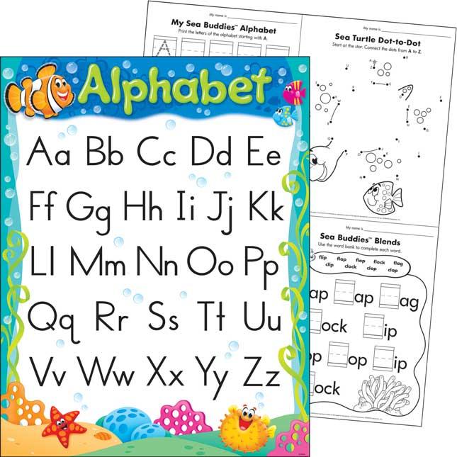 Sea Buddies™ Alphabet Learning Chart