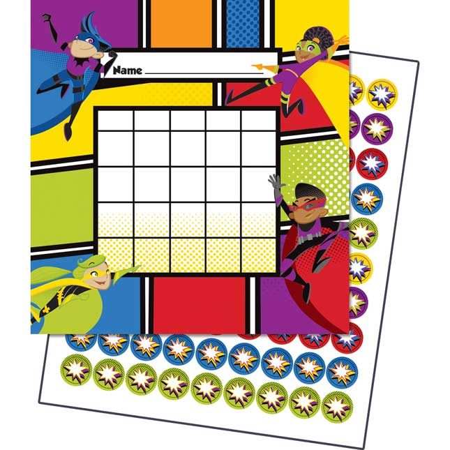 Super Power Mini Incentive Charts With Stickers