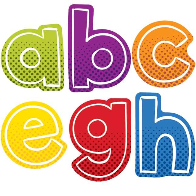 Super Power Alphabet Lowercase Letters Sticker Pack