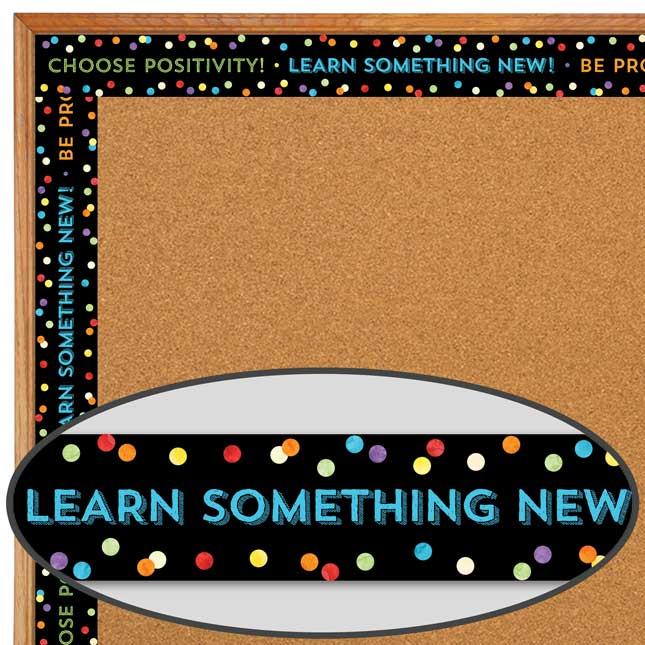 Celebrate Learning Think Positive Straight Borders