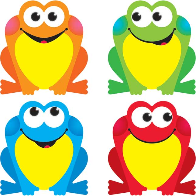 Colorful Frogs Mini Accents Variety Pack